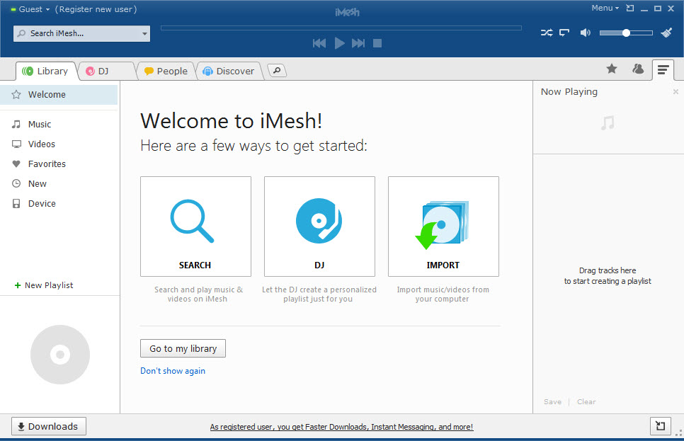 imesh pour windows 8 gratuit