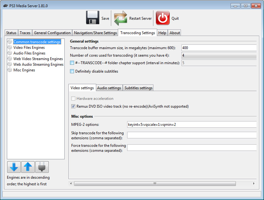 freemi upnp media server pour windows 7