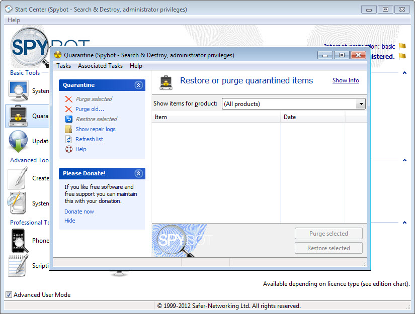 spybot search and destroy free download windows 8.1