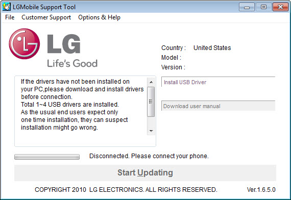 LG Mobile Support Tool 1 8 9 0 Free Download for Windows 10