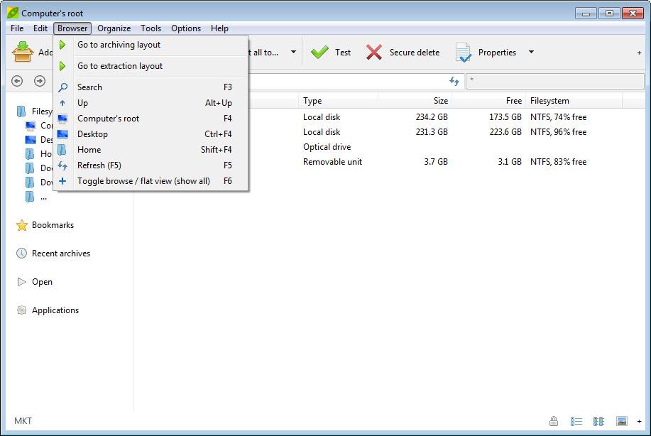 PeaZip 6.8.0 Free Download for Windows 10, 8 and 7 - FileCroco.com