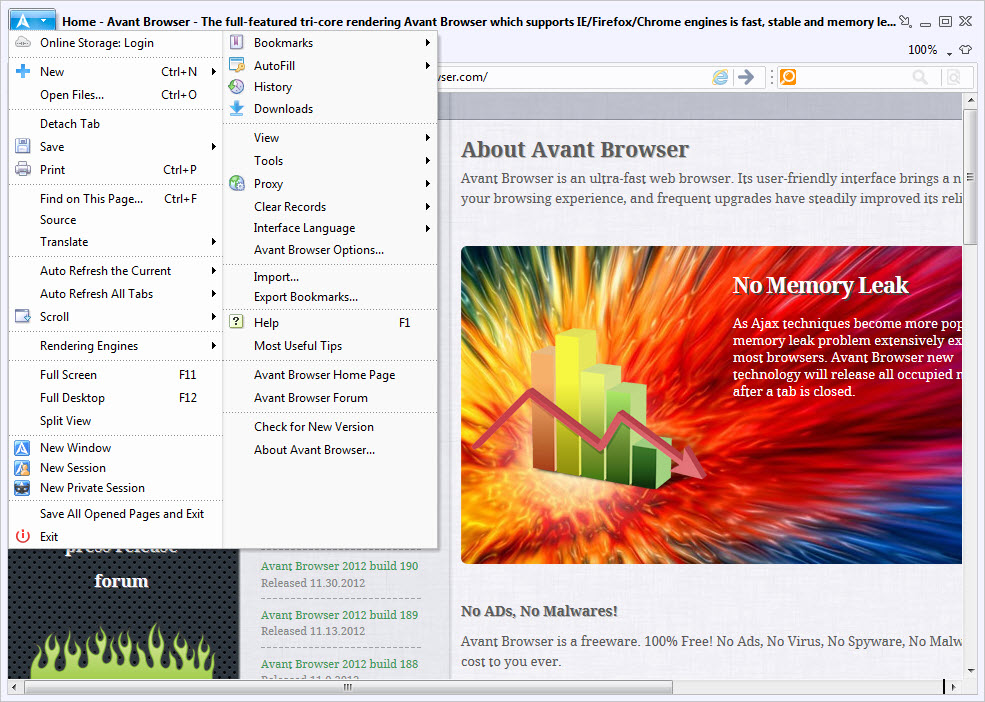 Avant Browser 2019 Build 2 Free Download for Windows 10, 8