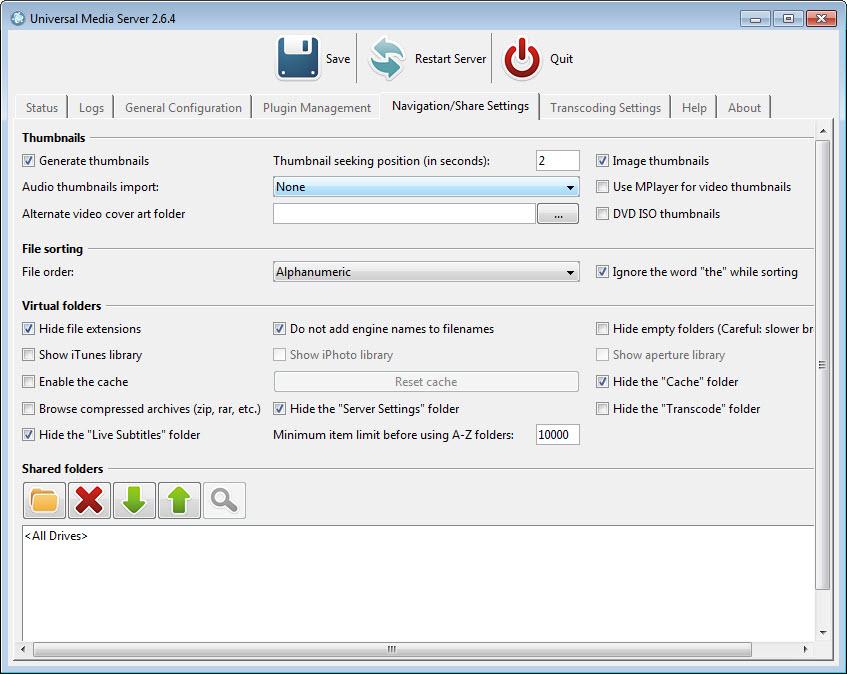 freemi upnp media server pour windows 7
