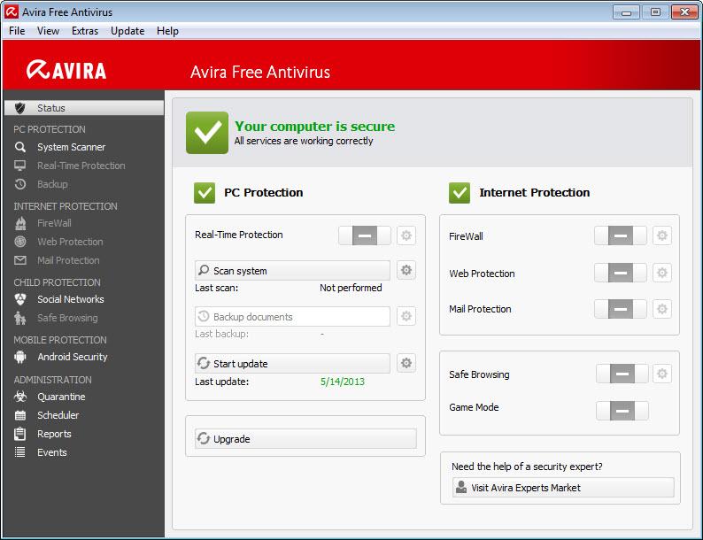 free avira antivirus download for windows 7 for one year