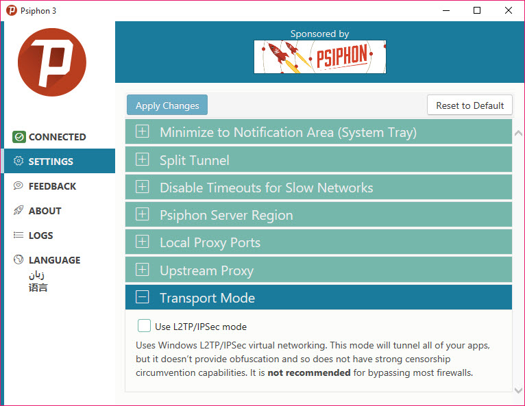 Psiphon 3 build 141 free download for windows 10, 8 and 7.