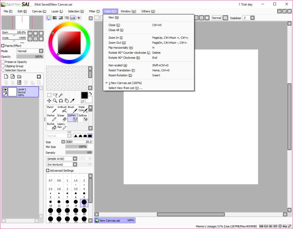 free download paint tool sai full version for windows 7