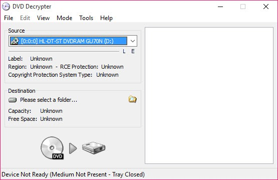 DVD Decrypter 3 5 4 0 Free Download for Windows 10, 8 and 7