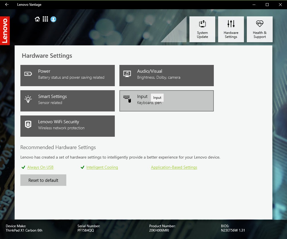 Lenovo Vantage 4 15 58 0 Free Download for Windows 10