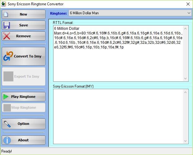 Sony Ericsson Ringtone Convertor 1 0 Free Download for Windows 10, 8