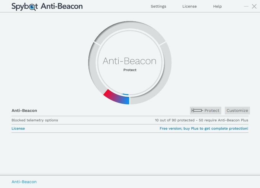 spybot anti beacon update