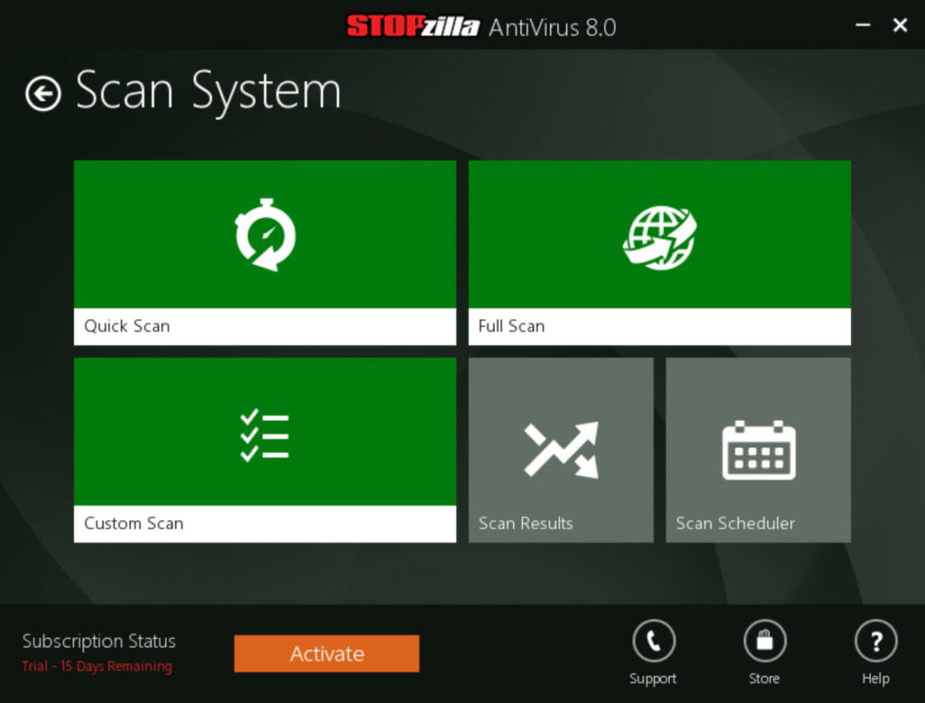 STOPzilla AntiVirus 8 0 5 329 Free Download for Windows 10