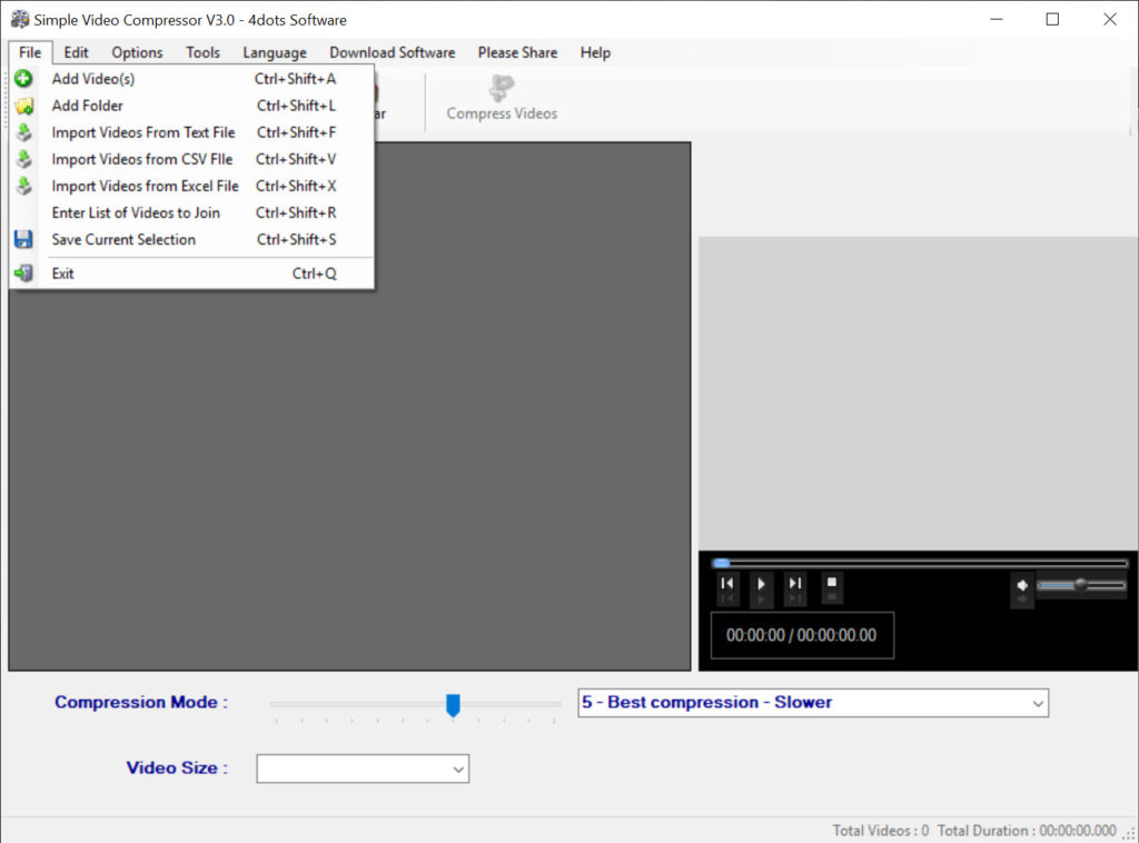 Simple Video Compressor 3 0 Free Download for Windows 10, 8
