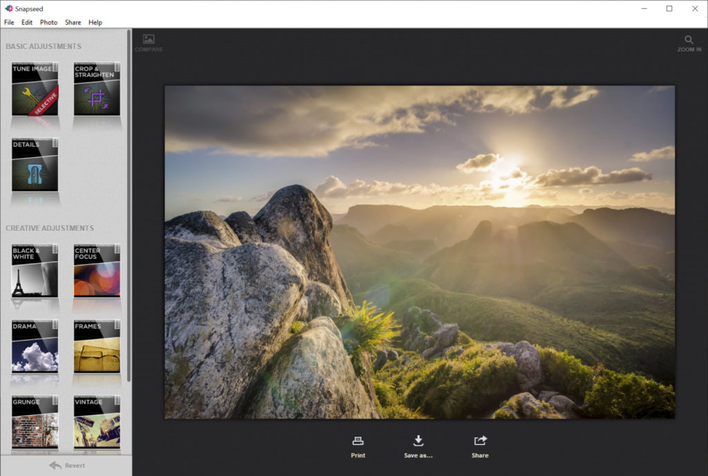 photo editor snapseed for pc