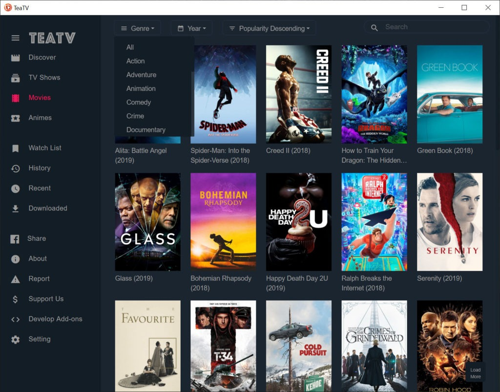 TeaTV 1 5 0 Free Download for Windows 10, 8 and 7