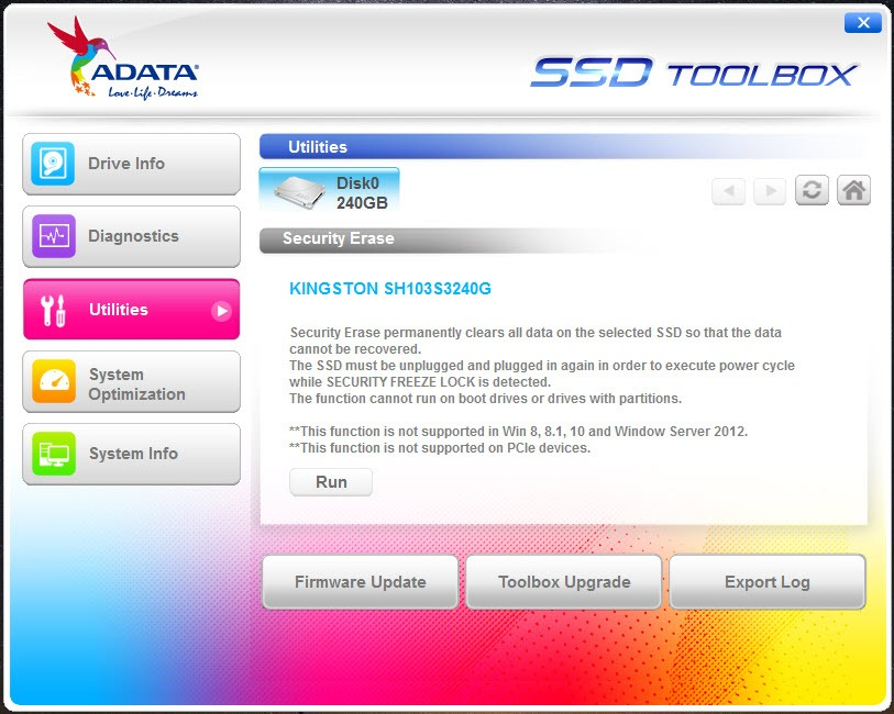 ADATA SSD ToolBox 3 0 6 Free Download for Windows 10, 8 and 7