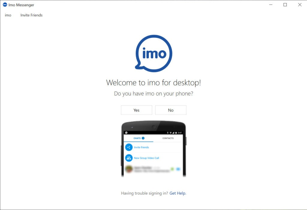 imo app download video calling software